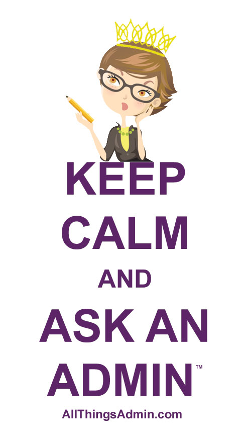 keep calm and ask an admin logo